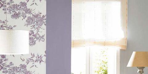 Room, Interior design, Wood, Floor, Flooring, Furniture, Textile, Home, Table, Purple,