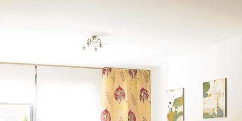 Room, Interior design, Green, Floor, Living room, Flooring, Furniture, Wall, Couch, Purple,
