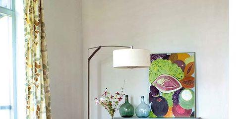 Interior design, Room, Furniture, Table, Living room, Pink, Purple, Home, Interior design, Magenta,