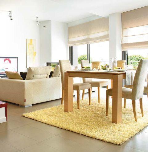 Room, Floor, Interior design, Flooring, Wood, Table, Furniture, Interior design, Couch, Ceiling,