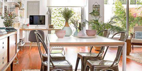 salón comedor con escritorio