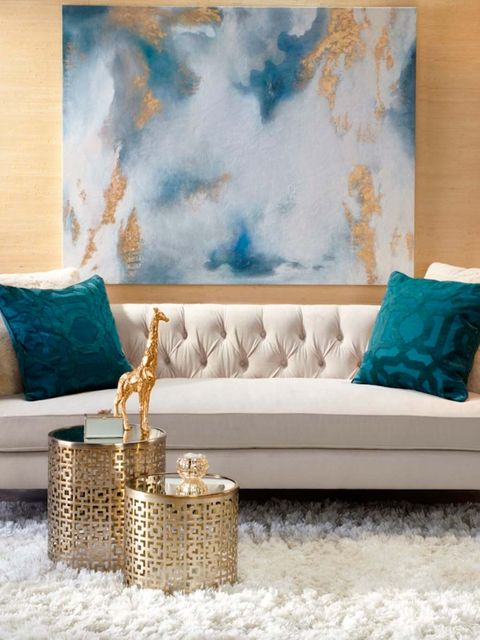 Living room, Furniture, Room, Couch, Aqua, Blue, Turquoise, Interior design, Wall, studio couch,