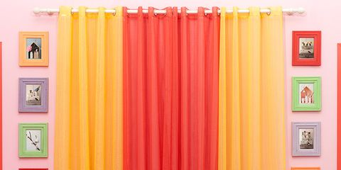 Room, Yellow, Interior design, Textile, Orange, Furniture, Wall, Interior design, Couch, Living room,