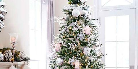 Christmas tree, Christmas decoration, White, Living room, Room, Christmas ornament, Tree, Christmas, Plant, Interior design,