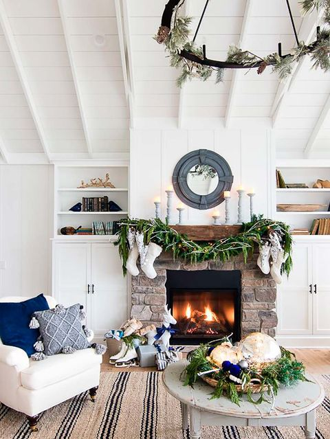 Living room, Room, White, Interior design, Furniture, Blue, Home, Property, Ceiling, House,