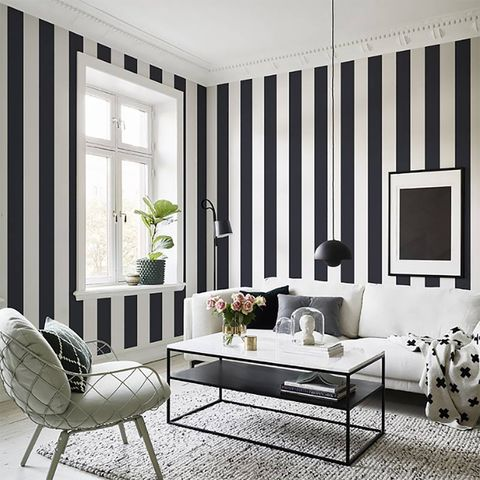 Furniture, Room, White, Living room, Interior design, Coffee table, Black-and-white, Table, Couch, Curtain,