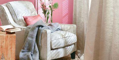 Interior design, Room, Textile, Linens, Interior design, Throw pillow, Window treatment, Lamp, Pillow, Bedding,
