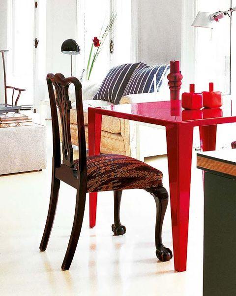 Room, Furniture, Interior design, Chair, Floor, Hardwood, Table, Flooring, Interior design, Dining room,
