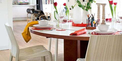 Furniture, Room, Table, Tablecloth, Interior design, Glass, Drinkware, Tableware, Chair, Dining room,