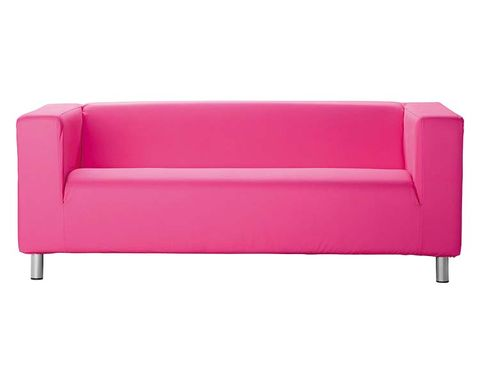 Furniture, Couch, Magenta, Pink, Rectangle, Purple, Maroon, studio couch, Material property, Futon pad,