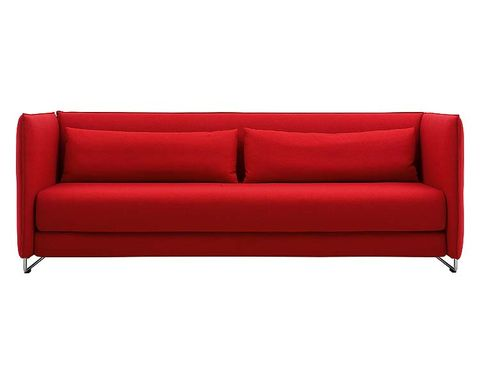 Brown, Red, Couch, Furniture, Interior design, Rectangle, Living room, Maroon, Black, studio couch,