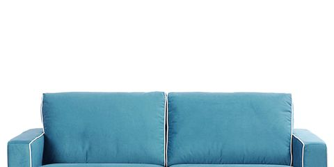 Blue, Room, Furniture, Couch, Living room, Turquoise, Rectangle, Electric blue, Azure, Teal,