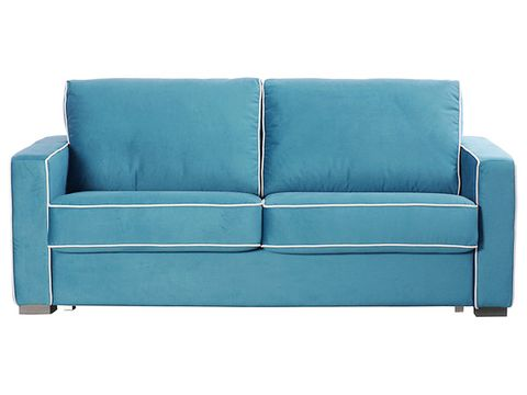 Blue, Furniture, Couch, White, Room, Turquoise, Living room, Teal, Rectangle, Aqua,