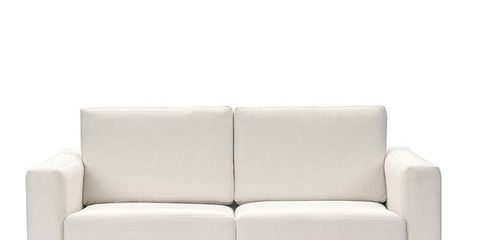 Brown, White, Couch, Furniture, Living room, Style, Interior design, Line, Rectangle, Black,