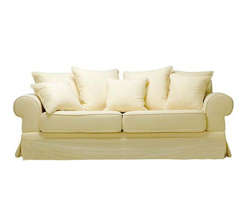 Brown, Furniture, Couch, White, Interior design, Outdoor furniture, Rectangle, Black, Pillow, Outdoor sofa,