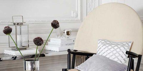 Room, Furniture, Table, Floor, Glass, Interior design, Linens, Hardwood, Home accessories, Grey,