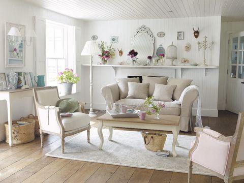 Interior design, Room, Wood, Floor, Home, Living room, Furniture, White, Flooring, Interior design,