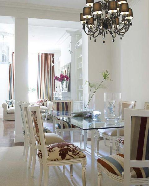 Room, Wood, Interior design, Furniture, Floor, Chandelier, Light fixture, Ceiling fixture, Table, Flooring,