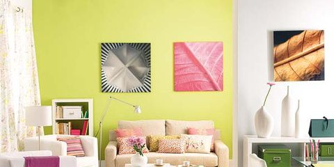 Green, Room, Interior design, Home, Furniture, Textile, Wall, Living room, Floor, Interior design,