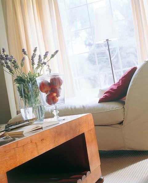 Interior design, Room, Glass, Furniture, Interior design, Table, Window treatment, Couch, Window covering, Centrepiece,