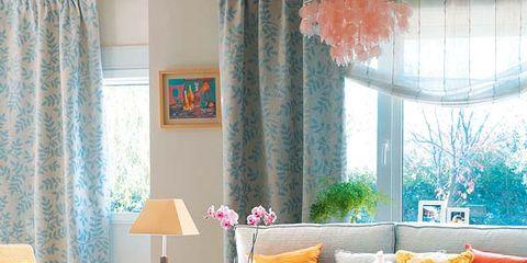 Room, Interior design, Yellow, Orange, Textile, Living room, Home, Furniture, Interior design, Peach,
