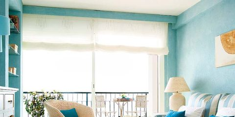 Blue, Room, Green, Interior design, Living room, Floor, Furniture, Wall, Home, Turquoise,