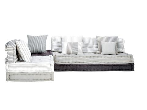 Furniture, White, Room, Couch, Style, Living room, Pillow, Cushion, Grey, Rectangle,