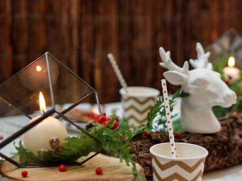 Interior design, Candle, Horn, Wax, Flame, Reindeer, Fire, Still life photography, Sculpture, Cup,