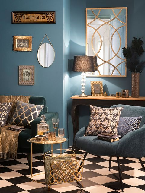 Room, Interior design, Furniture, Wall, Living room, Interior design, Home, Lamp, Teal, Turquoise,