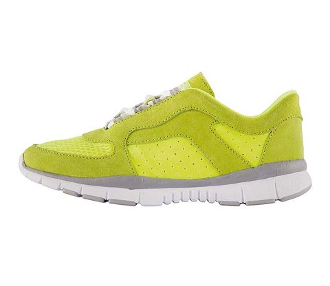 Footwear, Product, Yellow, Shoe, White, Line, Athletic shoe, Sneakers, Logo, Carmine,