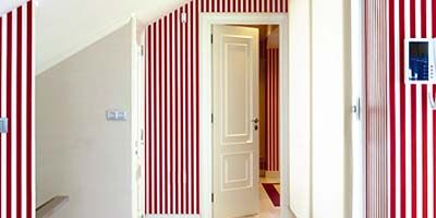 Floor, Flooring, Property, Room, Architecture, Interior design, Red, Wall, Real estate, Line,