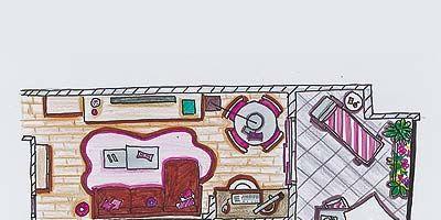 Pink, Rectangle, Magenta, Illustration, Drawing, Child art,