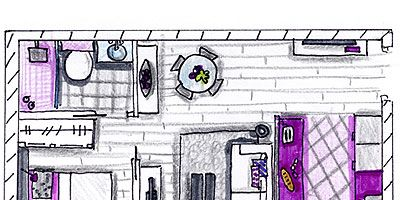 Purple, Magenta, Pink, Line, Violet, Lavender, Parallel, Artwork, Rectangle, Plan,