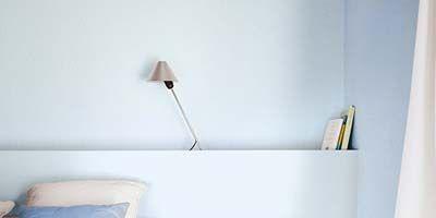 Room, Interior design, Product, Wall, Textile, White, Interior design, Azure, Home, Grey,