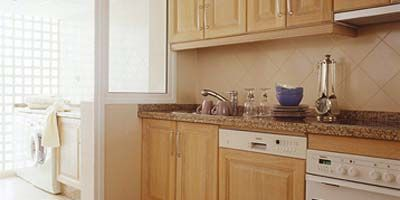 Floor, Room, Flooring, Property, White, Tile, Kitchen, Interior design, Countertop, Cabinetry,