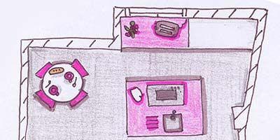 Magenta, Purple, Pink, Line, Violet, Rectangle, Lavender, Artwork, Illustration, Line art,