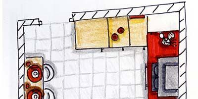 Red, Line, Rectangle, Orange, Artwork, Parallel, Illustration, Circle, Still life, Painting,