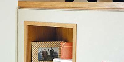 Room, Wood, Property, Textile, Wall, Interior design, Shelving, Orange, Shelf, Tan,