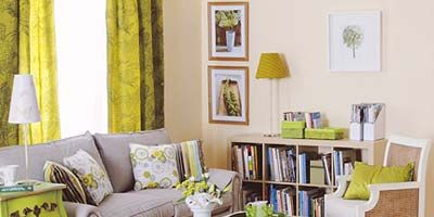 Room, Green, Interior design, Wood, Yellow, Living room, Home, Furniture, Wall, Floor,