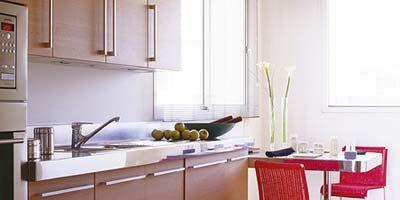 Room, Floor, Property, Flooring, Interior design, Major appliance, Kitchen, Table, Kitchen appliance, Oven,