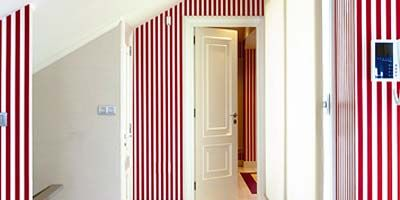 Floor, Flooring, Property, Architecture, Room, Red, Interior design, Wall, Real estate, Line,