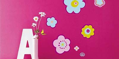Yellow, Petal, Magenta, Purple, Pink, Flower, Violet, Wall sticker, Lavender, Paint,