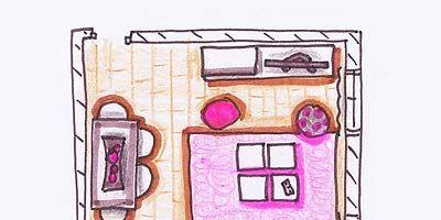Magenta, Purple, Pink, Line, Violet, Art, Illustration, Drawing, Artwork, Paint,