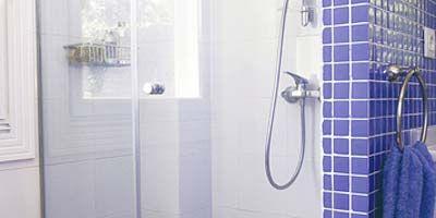 Blue, Property, Room, Wall, Purple, Plumbing fixture, Fixture, Glass, Bathroom accessory, Plumbing,