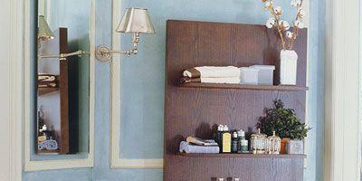 Room, Bathroom sink, Interior design, Property, Wall, Plumbing fixture, Sink, Linens, Tap, Shelving,