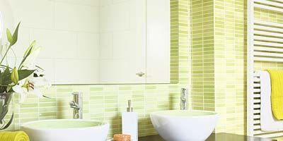 Room, Property, Interior design, Plumbing fixture, Tile, Wall, Ceramic, Porcelain, Tap, Sink,