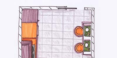 Line, Orange, Illustration, Artwork, Circle, Drawing, Graphics, Sketch, Kitchen appliance accessory,