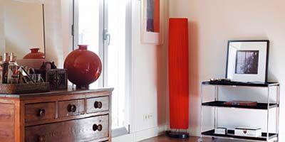 Wood, Room, Interior design, Drawer, Furniture, Red, Flooring, Wall, Home, Floor,