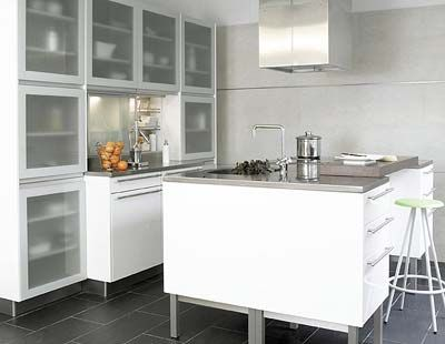 Colores Para La Cocina - Cocina-suelo-gris