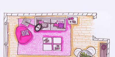 Purple, Pink, Magenta, Line, Violet, Lavender, Illustration, Rectangle, Artwork, Drawing,